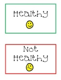Food groups activity, healthy vs not healthy foods