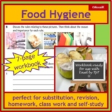 Food hygiene, cooking, health: 7-page workbook