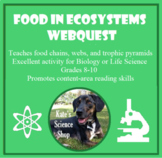 Food in Ecosystems Webquest