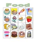 Food in English Bingo
