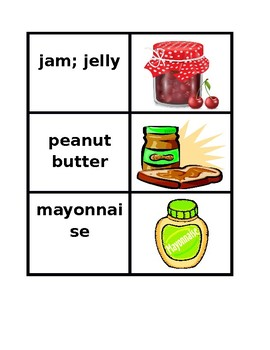 Food in English Concentration games
