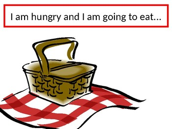 Food in English I'm hungry Activity