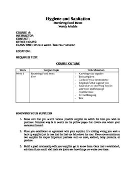 Food items receiving guidelines