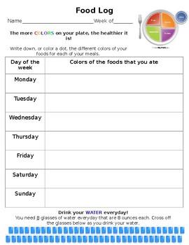 Food logs for kids