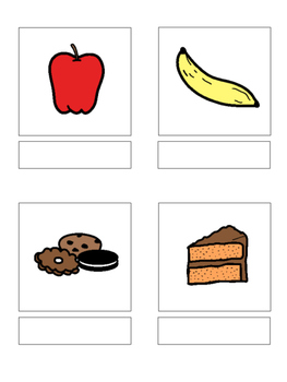 Food - matching book, flash cards and more!!