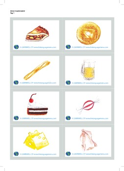 Food picture flash cards