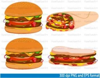 Food school Clip Art fast food Spaghetti Pizza junk french fries Drinks -057-