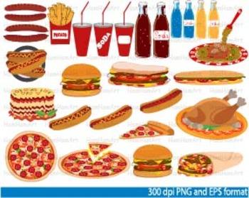 Food school Clip Art fast food Spaghetti Pizza junk french