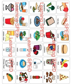 Food symbols boardmaker symbols 30 food items nutrition