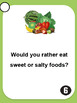 Food vocabulary - 30 ESL - ELL speaking prompt question cards