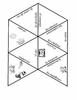 Food vocabulary puzzles