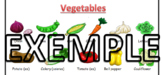 Food vocabulary words