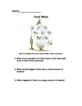 Food web assessment