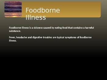 Foodborne Illness Powerpoint
