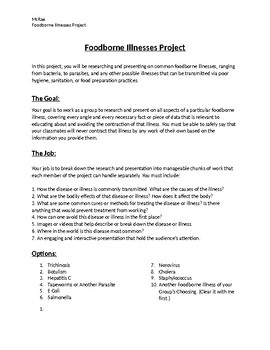 Foodborne Illnesses Research Project.
