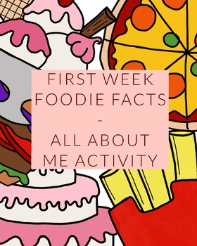 Foodie Facts / All About Me / First Week of Class / New Student / Lesson Plan an