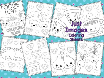 Foodie Love Coloring Pages - The Crayon Crowd, Valentine's Day, Mother's Day
