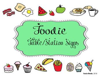 Foodie Station Markers