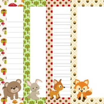 Woodland Forest Animals - Fox included - Writing Paper - 3