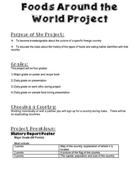 Foods around the world project for culinary arts or foods class tpt foods around the world project for culinary arts or foods class ibookread Download