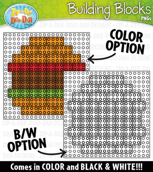 Foods Building Blocks Clipart {Zip-A-Dee-Doo-Dah Designs}
