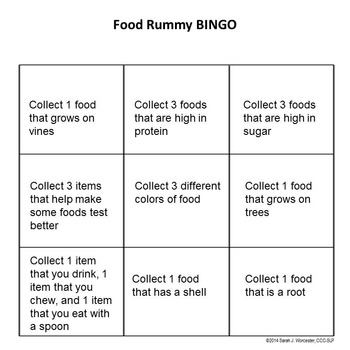 Foods Category Rummy