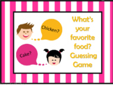 Foods  Guessing Game