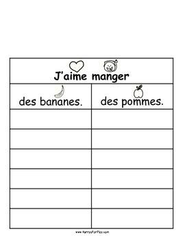 Foods I Like Vol II - Surveys (French)