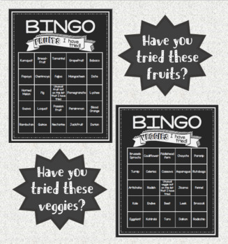 Foods I've Tried Bingo Icebreaker Activity for Intro to Culinary Course