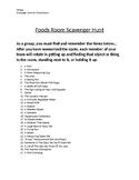 Foods Room Scavenger Hunt