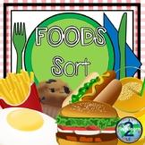 Foods Sort (Breakfast, Lunch, Dinner, Dessert, Vegetables,