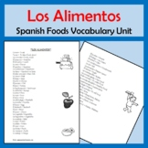 Foods Vocabulary Lists, Activities, Crossword, Games, and Quiz Unit