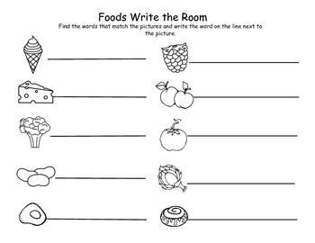 Foods Write the Room