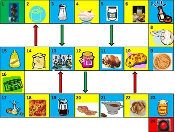 Foods and Drinks Game board power point version