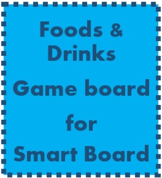 Foods and Drinks Game boards for Smartboard