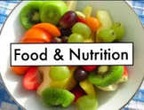 Foods and Nutrition 1 Bundle entire semester course