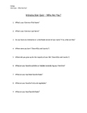 Foods and Nutrition Introduction Quiz.