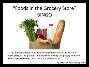 Foods at the Grocery Store - Part 2