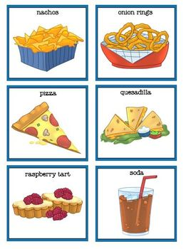 Foods from A-Z Rhyme, Worksheets and File Folder Matching