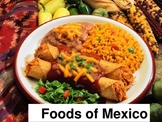 Foods of Mexico powerpoint. La comida de Mexico.