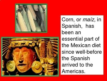 Foods of Mexico powerpoint. La comida de Mexico.