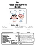 Foods or Recipe Booklet Title Page and Evaluation Criteria