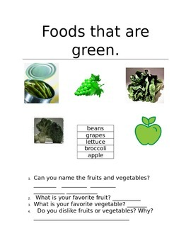 Foods that are Green!