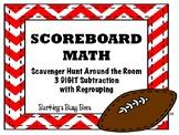 Super Bowl LII Subtraction Scavenger Hunt Around the Room-