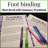 Foot binding Short Read with Summary Workbook