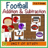 Football 2 Addend Addition & Subtraction With Ten Frames