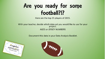 Footbal Themed SLIDESHOW for Data Collection