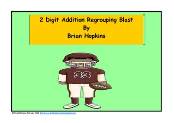 Football 2 Digit Addition Regrouping Blast Common Core