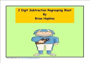 Football 2 Digit Subtraction Regrouping Blast