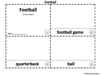 Football 2 Emergent Reader Booklets